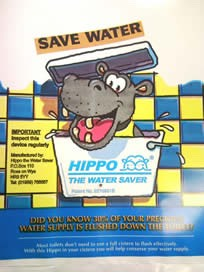 I know this seems a little tedious but this hippo bags save 3 LITRES of water every time you flush the toilet! You just need to install it into your toilet cistern. Order your hippo bag at hippo-the-watersaver.co.uk