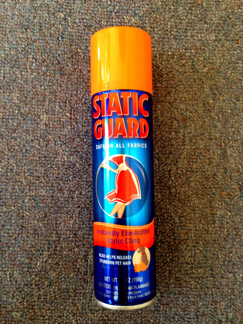 6. Static Guard Spray Static cling makes laundry suck just a little bit more. But sometimes that extra punch of suck can really drive you crazy. Plus, those little tricks like using dryer sheets or shaking your clothes as soon as they come out of the dryer doesn't always solve the problem. For this reason, we suggest having a bottle of Static Guard spray in your laundry arsenal