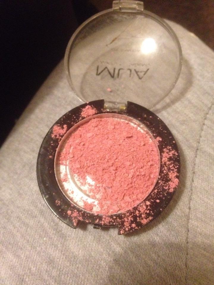 1. Take out about half of the blusher and out it into another pot you are going to do the mixing in