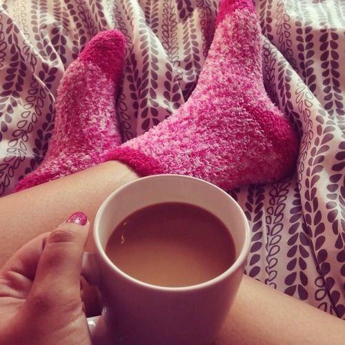 Pj's and fuzzy socks