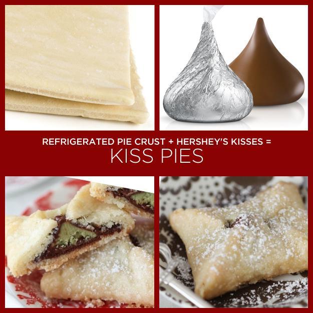 Refrigerated Pie Crust + Hershey's Kisses = Kiss Pies