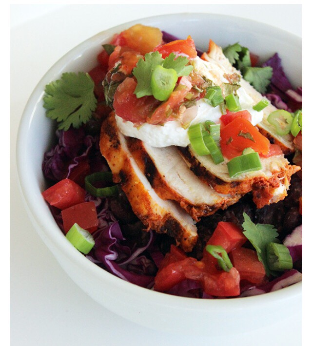 It may seem like a low-calorie meal, but a Chipotle chicken burrito bowl with all the fixings like salsa, cheese, and sour cream can weigh in around 745 calories. Go visit this website  http://www.popsugar.com/fitness/Healthy-Burrito-Bowl-Recipe-32431275 to find this amazing recipe! Credit: Popsugar