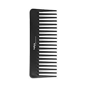 For naturally curly, thick hair use a comb!
