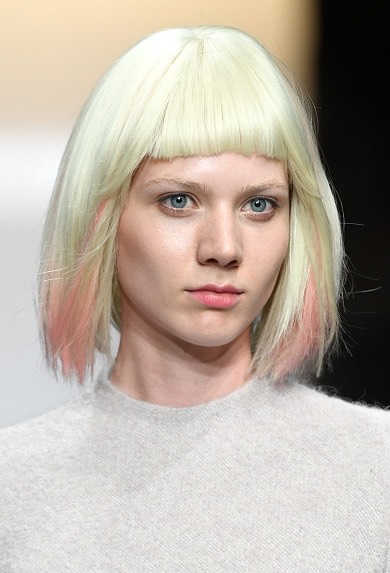 5.Vivienne Hu  From the runway models to the celebs sitting in the front row, pink-accented hair is one of the biggest trends from Fashion Week.