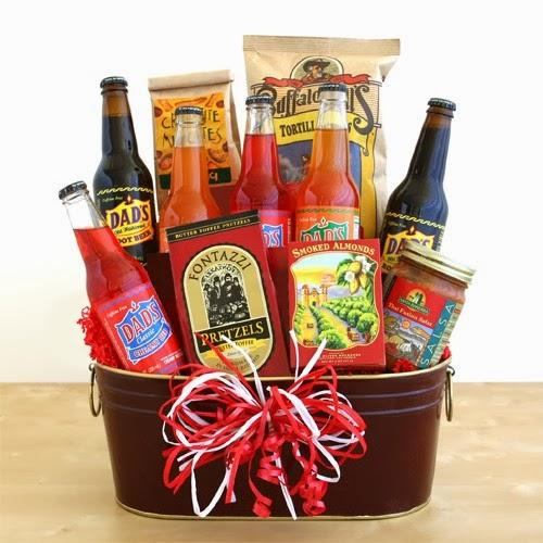 Gift basket Fill a basket with his favorite drinks, chocolates, baked goods, or other snacks and goodies! It's easy, thoughtful, and very unique!
