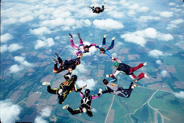 Go skydiving if you're not too scared
