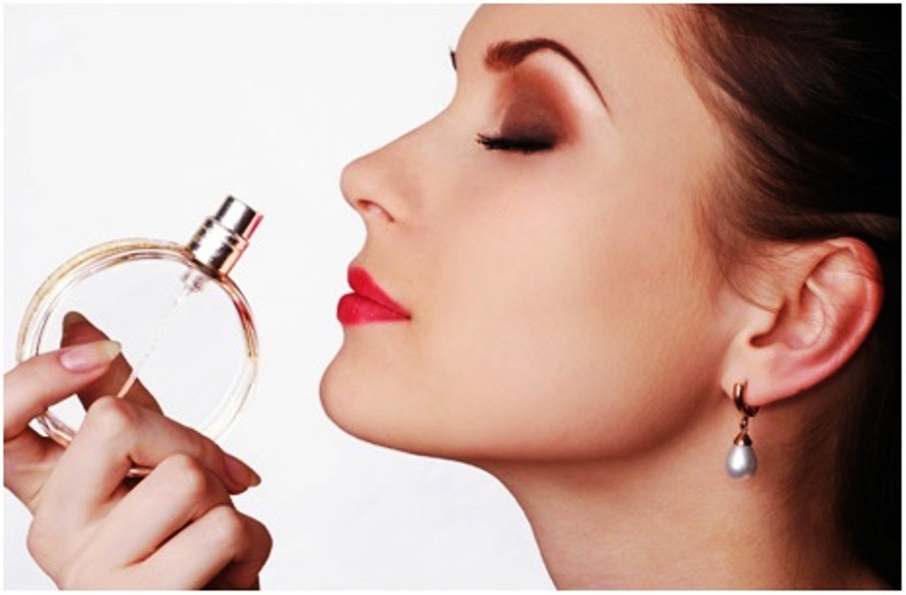 Spray a little bit of perfume or body spray( do not saturate yourself with it otherwise you'll smell too strong.