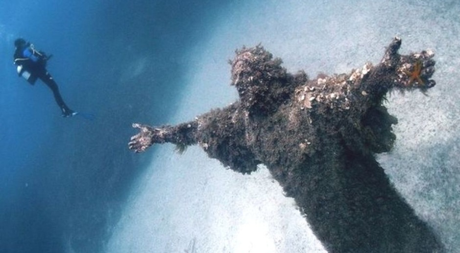 Christ of the Abyss in San Fruttuoso, Italy