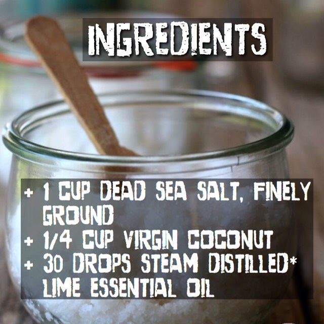 *It is essential that you use steam distilled because cold-pressed lime essential oil is phototoxic.Other good scent options are lavender & peppermint essential oil, although if you use peppermint I recommend reducing the amount to 20-25 drops at the most – it is very strong!