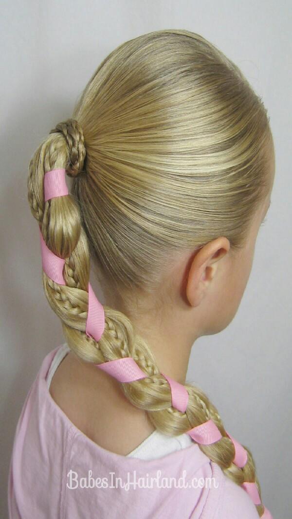 Intertwine ribbon into plaits to brighten them up