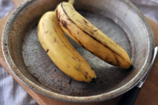 Pick a couple of ripe bananas. They should be sweet and soft but not too mushy.