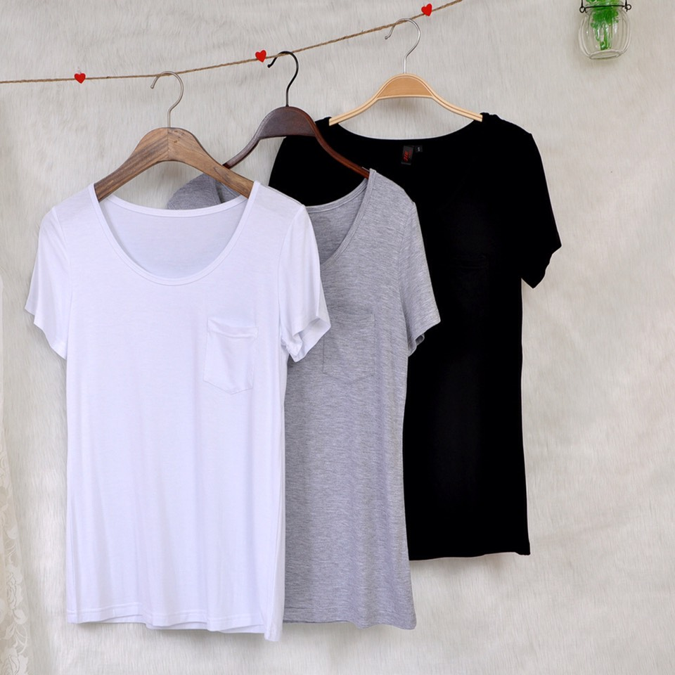 Plain T-shirts are comfortable, versatile, and inexpensive. Choose from colours, fits, and styles to match your personal style!