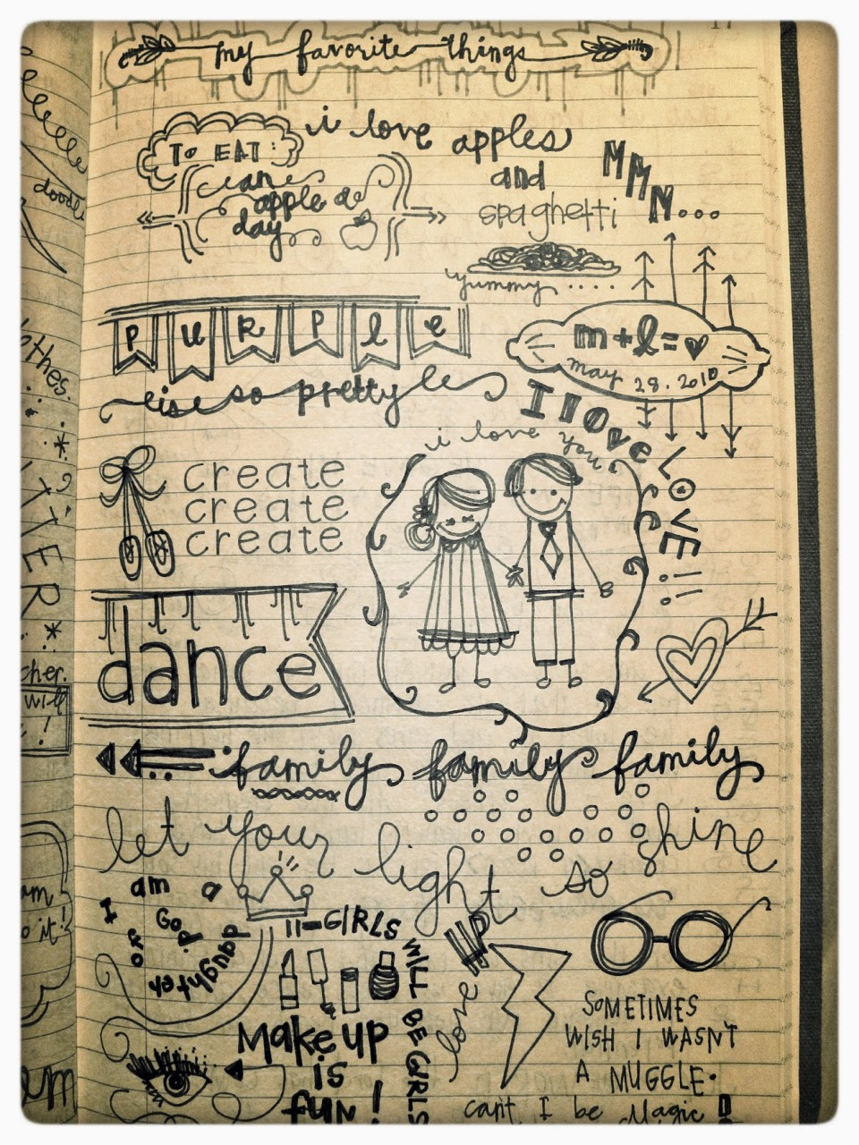 Make it creative! Add writing and a little art! If you can't draw, glue or tape in pictures.
