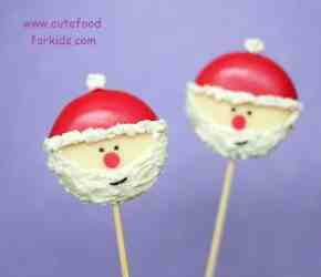 Santa cheese appetizers on a stick