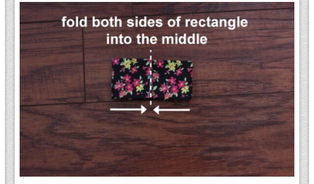 Fold both sides into the middle