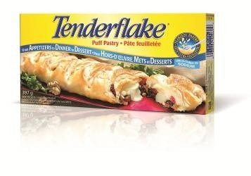 I didn't make homemade puff pastry I just bought some frozen at the store. I used tender flake but any brand will work. Roll the puff pastry out with a rolling pin into a large rectangle. Cut the puff pastry into rectangular strips that are about 5 inches long by 2 inches wide (Use a pizza cutter).