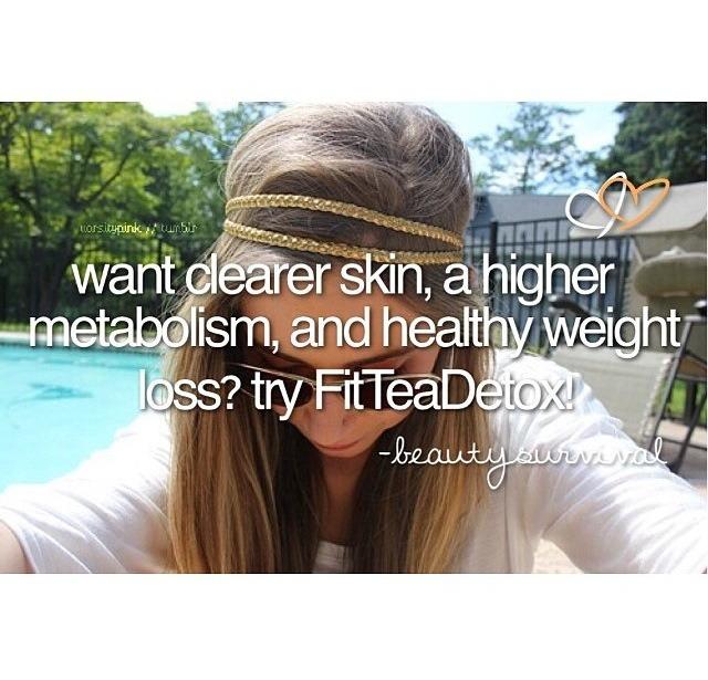 For clearer skin:  Try drinking FitTeaDetox! 👑