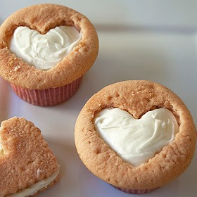 While the cupcakes are cooling – make the frosting: In a large bowl, on the medium speed of an electric mixer, beat the cream cheese and butter for about 3 minutes or  until smooth. Add the vanilla and beat well. Gradually add the sugar and keep beating until you obtain a very soft cream.