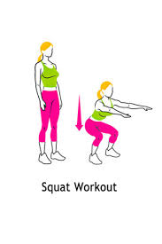 Yes ofcourse the squats , many people find it hard to do a squat properly it could help you if you use a chair  , also make sure your knees are under your shoulders and you bend like you where going to sit on that chair. Try to do atleast 10 of these per day.