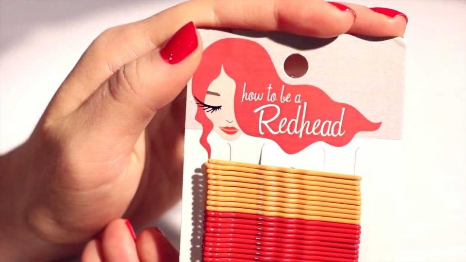 Designed for the three common types of red hair — Ginger Red, True Red and Midnight Red, these bobby pins will blend right in with any shade of red hair.  (Redhead Bobby Pins, $7.97, howtobearedhead.com