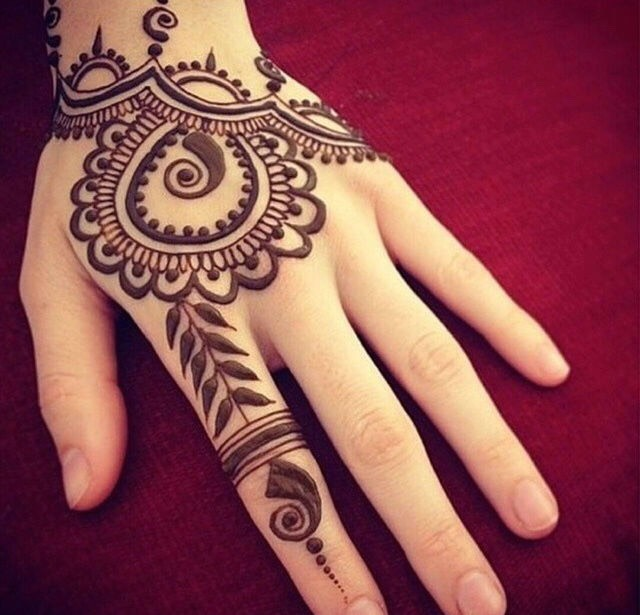 Draw whatever you want on your hand with the henna paste and let it dry for 2 hours before scraping the paste off