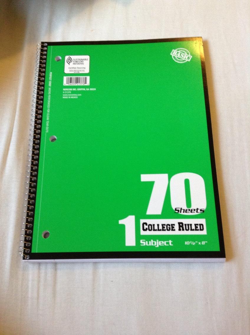 An extra notebook