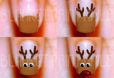 Christmas Nails Step By