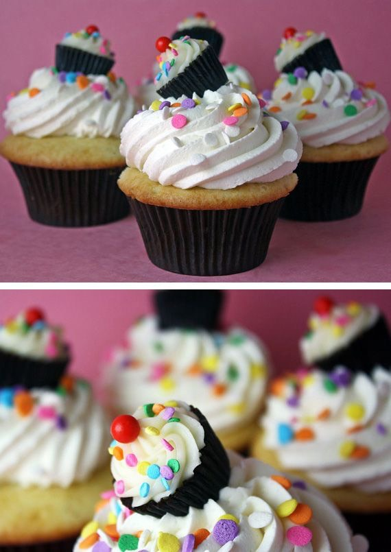 """""""What's better than cupcakes? Cupcakes with mini cupcakes on top!"""""""