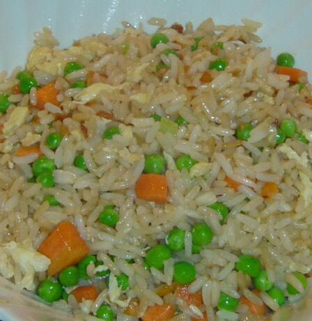 Hibachi-Style Fried Rice! It tastes almost exactly like restaurants'!   This recipe is from Allrecipes.com