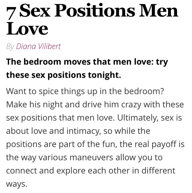 Sex positions men want