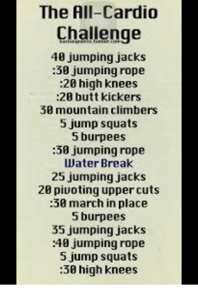 Finally I did this every day, it takes 10 mins max, and requires no level of skill or any equipment! V. Good cardio!