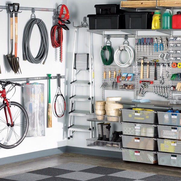 Also, think vertical. Is your garage high enough to add a shelf above your cars? If so, what would you store on that shelf? Remember, you're trying to utilize your space.