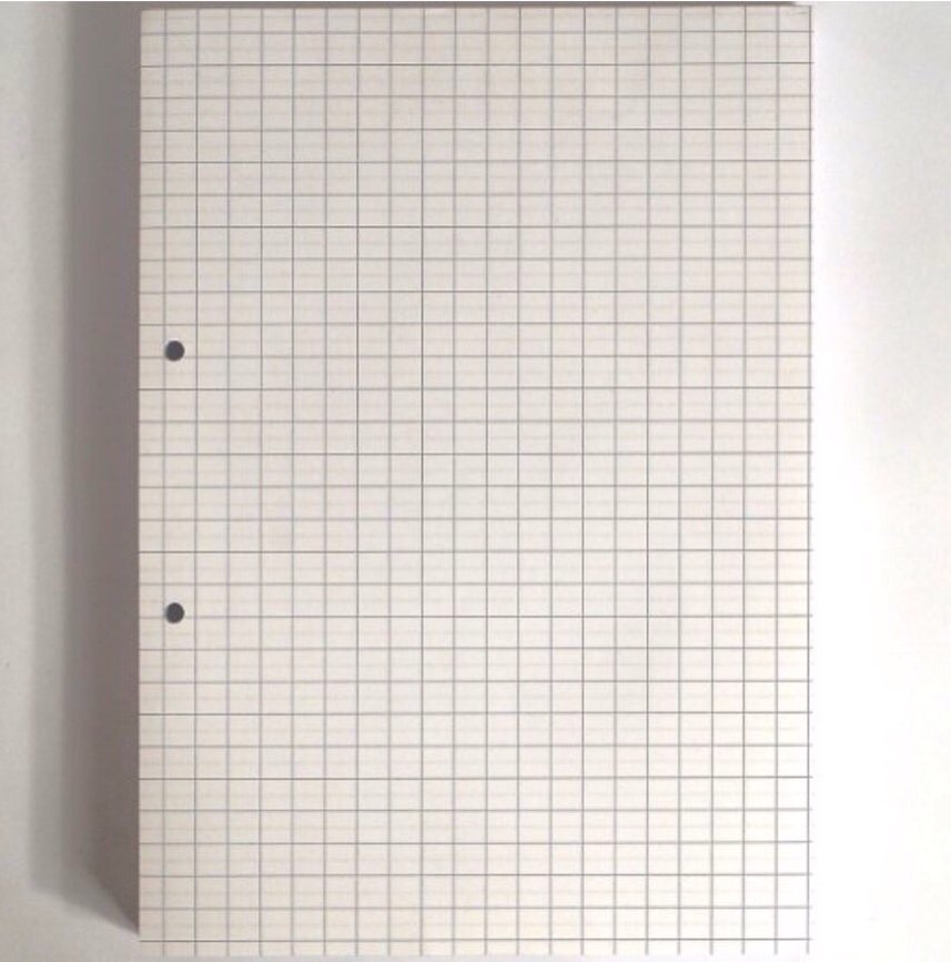 Squared paper - Not everyone will need this I know but I know I do for maths