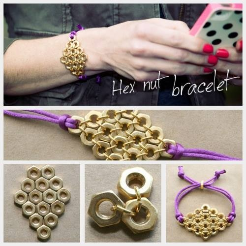 Hex nut bracelet Tap slides for full view