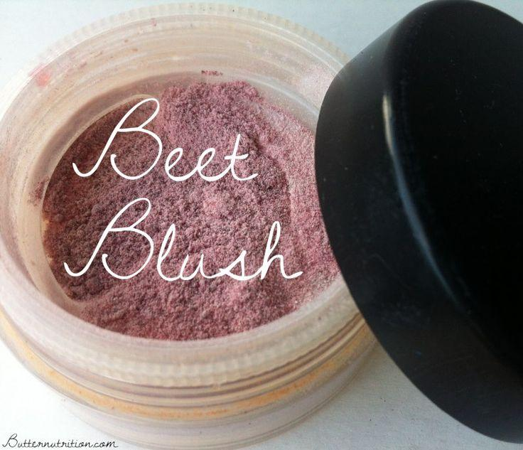 Ingredients: Fine beet powder Arrowroot powder Old/recycled powdered blush container (like this) Process: Start with 1/2 tb arrowroot starch in a container. Add 1/8 tsp of beetroot powder at a time until desired color is reached. For me, I liked about 3/4 tsp of beet powder per the 1/2 tb arrowroot.
