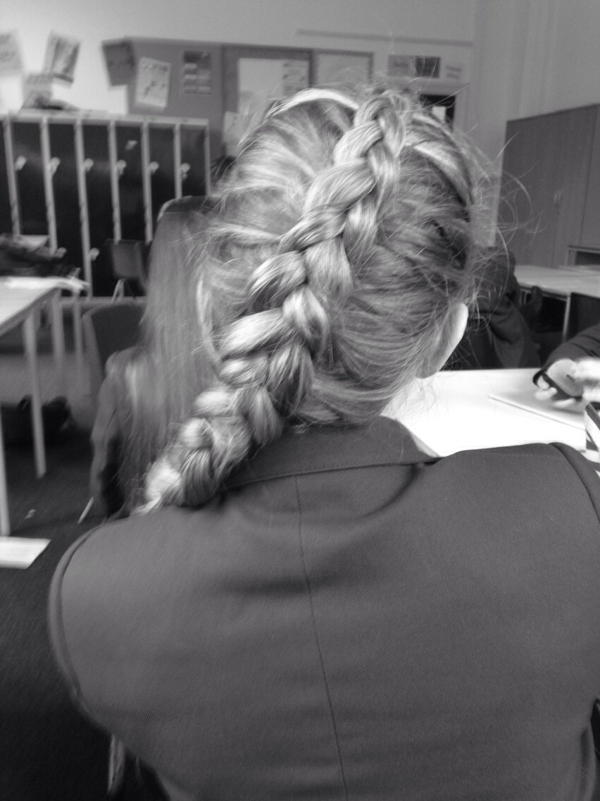 Okay, so a Dutch braid is just the same as a French but instead of when crossing the hair you take it over the top, you put it underneath. This leaves a lovely plait on the top of your head. I would suggest starting in-between the crown of your head and your hair line.