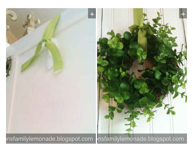 7. Use an upside-down Command hook on the backside of a door to hang a wreath.