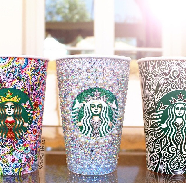 Go crazy and decorate a Starbucks cup to use for anything