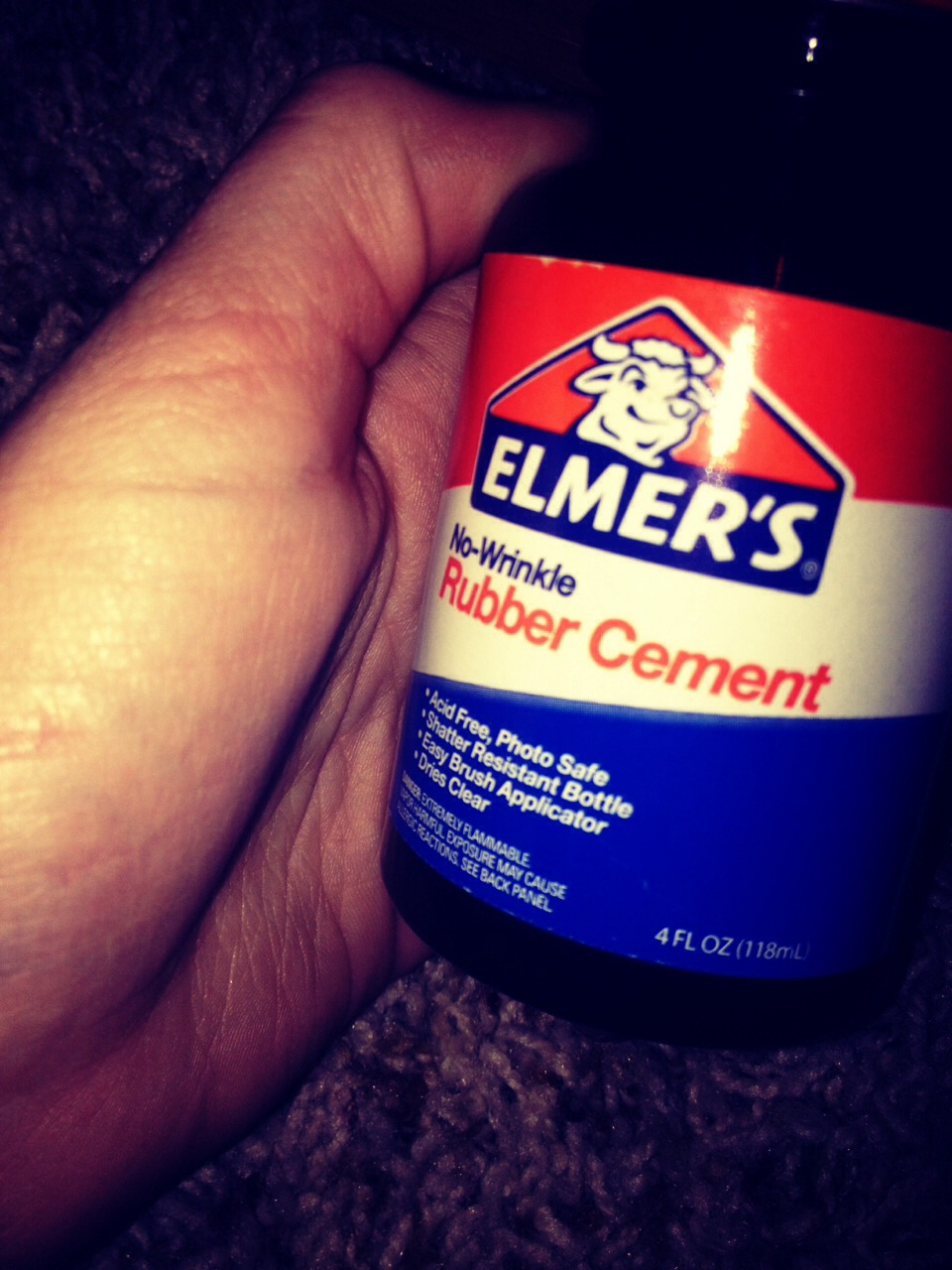 Take some sort of glue like super glue or rubber cement!
