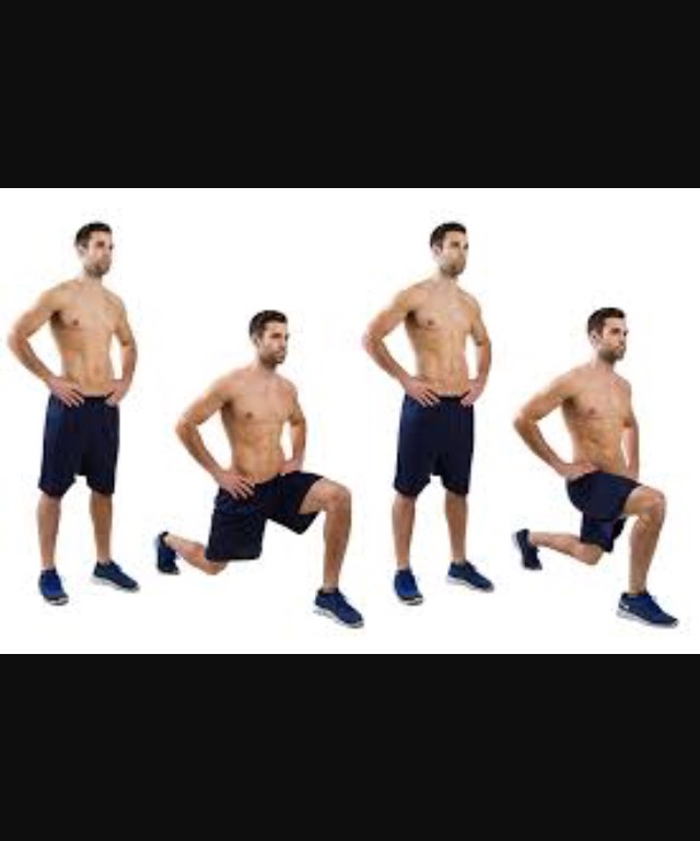 3 reps of 15 lunges.
