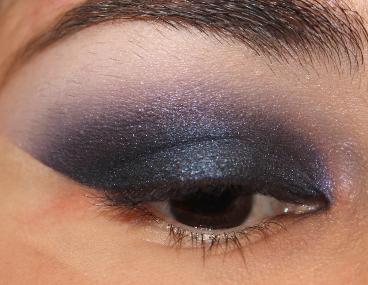 Put tape on the outside of your eye to make a crisp and clean line for eyeshadow and liner.