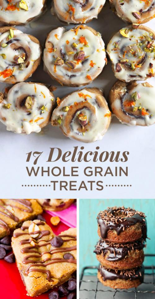 Bake treats with whole grains to add a little fiber and whole food goodness