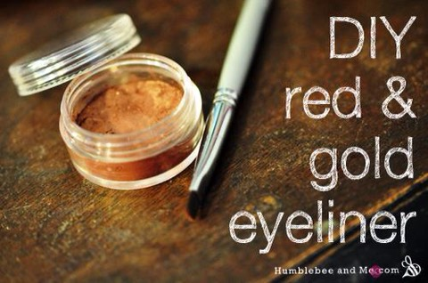 Red & Gold Clay Eyeliner  http://www.humblebeeandme.com/red-gold-clay-eyeliner/