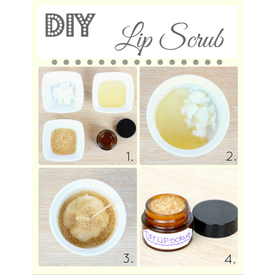 the things you will need are: coconut oil  brown sugar melted Vaseline  essential oil- I pick lemon