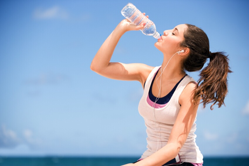2.Drink LOTS of water because if you dont drink enough your body will put on fat...