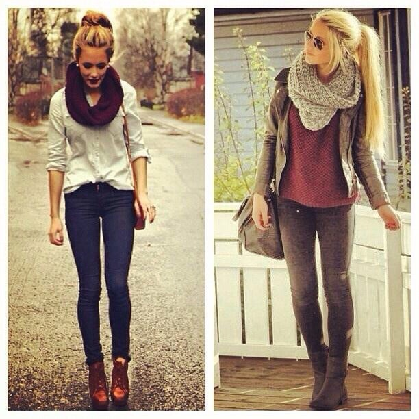 Basically anything with an infinity scarf and boots. 👌