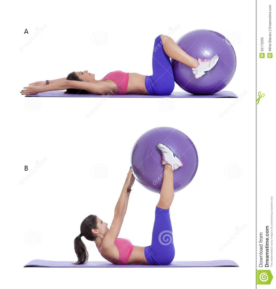 Stability Ball Knee Crunches: Musely