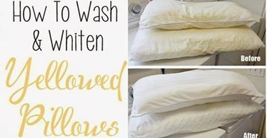 http://www.goodshomedesign.com/easy-way-to-wash-and-whiten-yellowed-pillows/