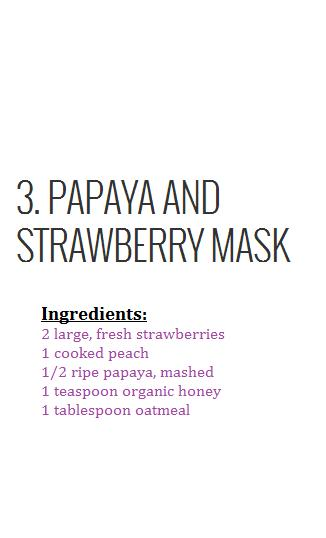Many commercial masks use fruit ingredients. Here you will find a lovely fruity recipe to make for your dry skin.