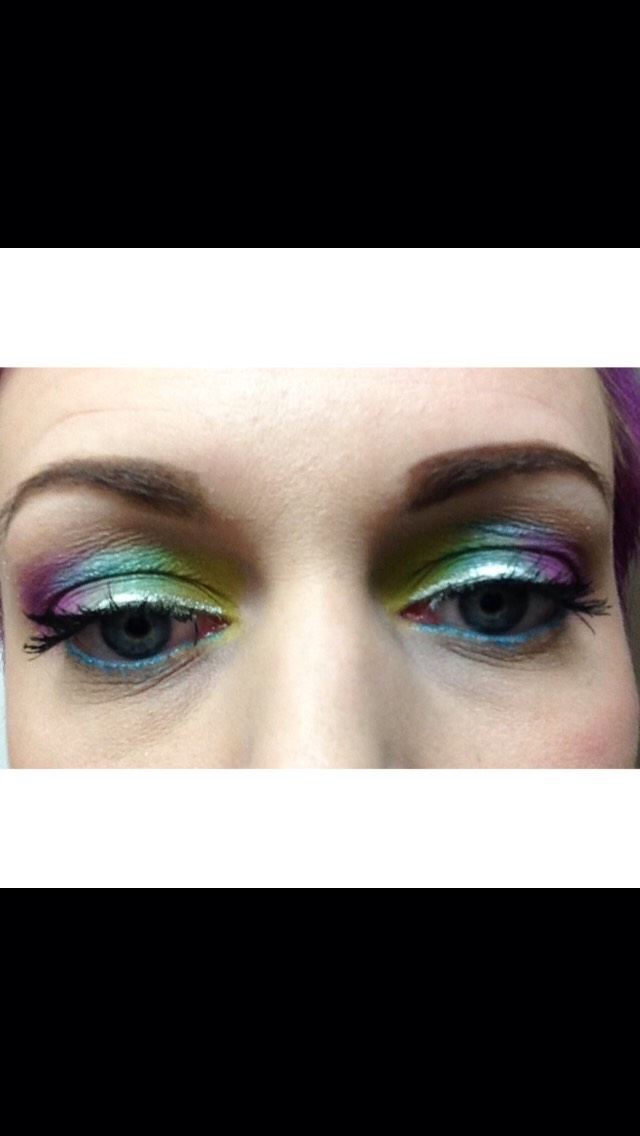 Excuse my camera and picture quality but I'm working with what I've got here! This is one of my favorite looks. My peacock, I'll be breaking down what I used step by step for you lovely ladies!